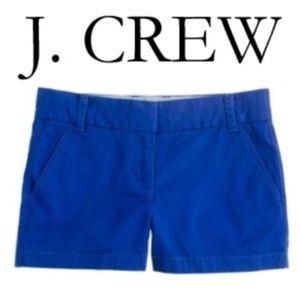 """J. Crew 4"""" Royal Blue Chino Shorts"""